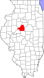 Illinois Map showing Tazewell County