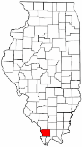 Illinois Map showing Union County