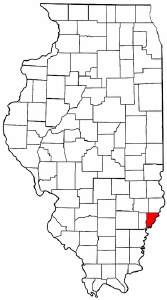 Illinois Map showing Wabash County