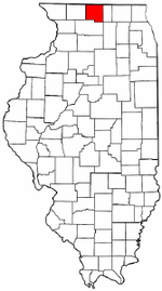 Illinois Map showing Winnebago County