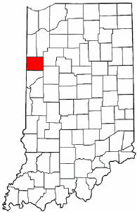 Indiana Map showing Benton County
