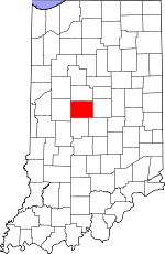 Indiana Map showing Boone County