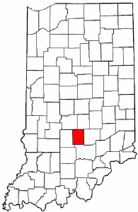 Indiana Map showing Brown County