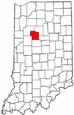 Indiana Map showing Carroll County