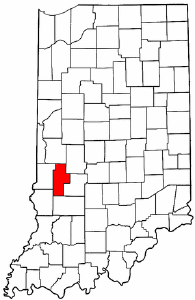 Indiana Map showing Clay County