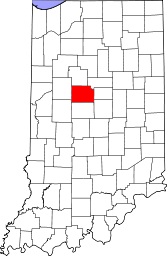 Indiana Map showing Clinton County