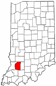 Indiana Map showing Daviess County