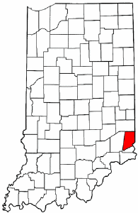 Indiana Map showing Dearborn County