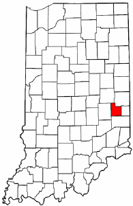 Indiana Map showing Fayette County