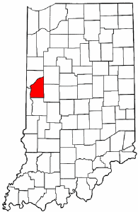 Indiana Map showing Fountain County