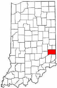 Indiana Map showing Franklin County