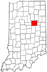 Indiana Map showing Grant County