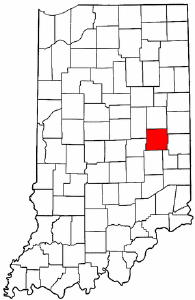 Indiana Map showing Henry County