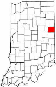 Indiana Map showing Jay County