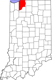 Indiana Map showing La Porte County