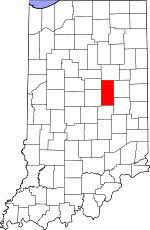 Indiana Map showing Madison County