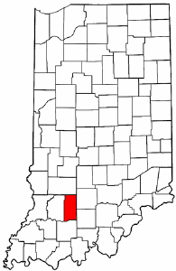 Indiana Map showing Martin County