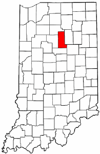 Indiana Map showing Miami County