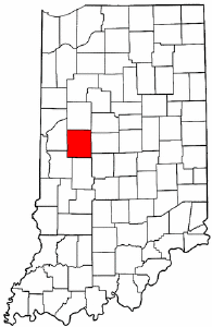 Indiana Map showing Montgomery County