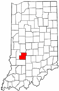 Indiana Map showing Owen County