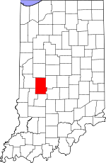 Indiana Map showing Putnam County