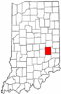 Indiana Map showing Rush County