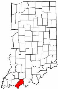 Indiana Map showing Spencer County