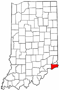 Indiana Map showing Switzerland County
