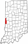 Indiana Map showing Vermillion County