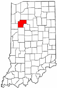 Indiana Map showing White County