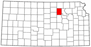 Kansas Map showing Clay County