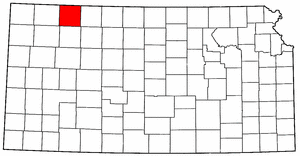 Kansas Map showing Decatur County