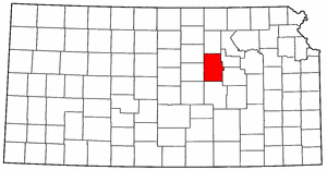Kansas Map showing Dickinson County
