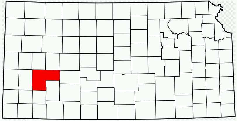 Kansas Map showing Finney County