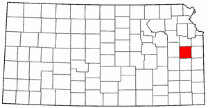 Kansas Map showing Franklin County