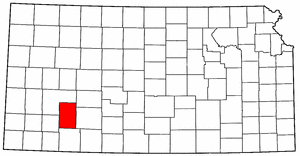 Kansas Map showing Gray County