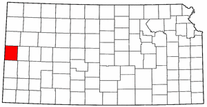 Kansas Map showing Greeley County