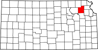 Kansas Map showing Jackson County