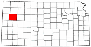 Kansas Map showing Logan County