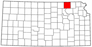 Kansas Map showing Marshall County
