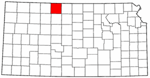 Kansas Map showing Phillips County