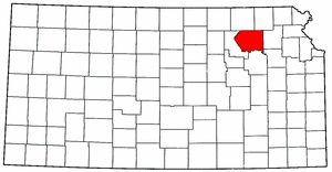 Kansas Map showing Pottawatomie County
