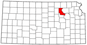Kansas Map showing Riley County