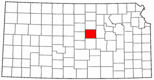 Kansas Map showing Saline County
