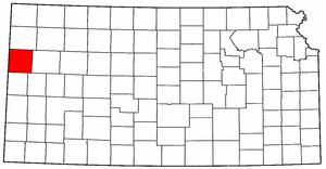 Kansas Map showing Wallace County