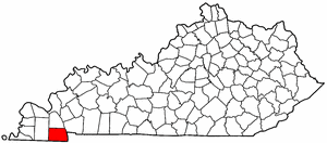 Kentucky Map showing Calloway County
