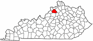 Kentucky Map showing Henry County
