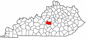 Kentucky Map showing Marion County