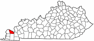 Kentucky Map showing McCracken County