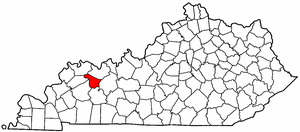 Kentucky Map showing McLean County